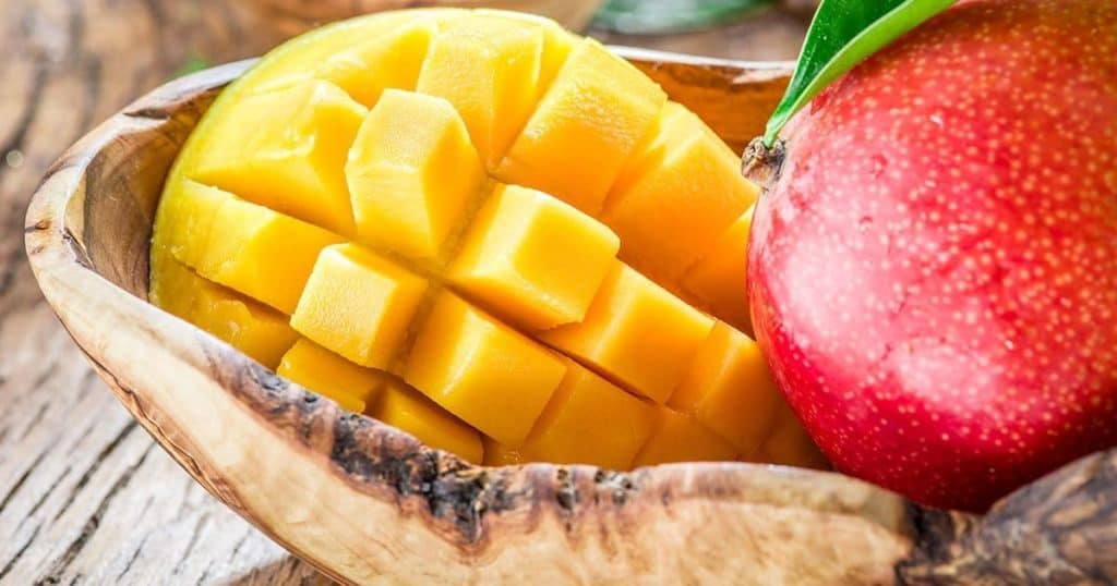 top of of our list of superfoods is mango