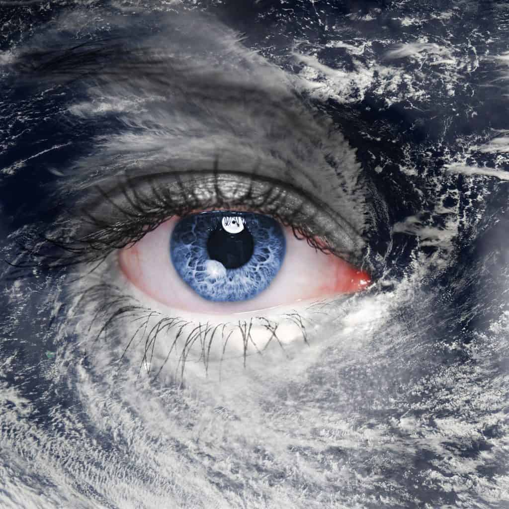 An eye in the middle of a storm