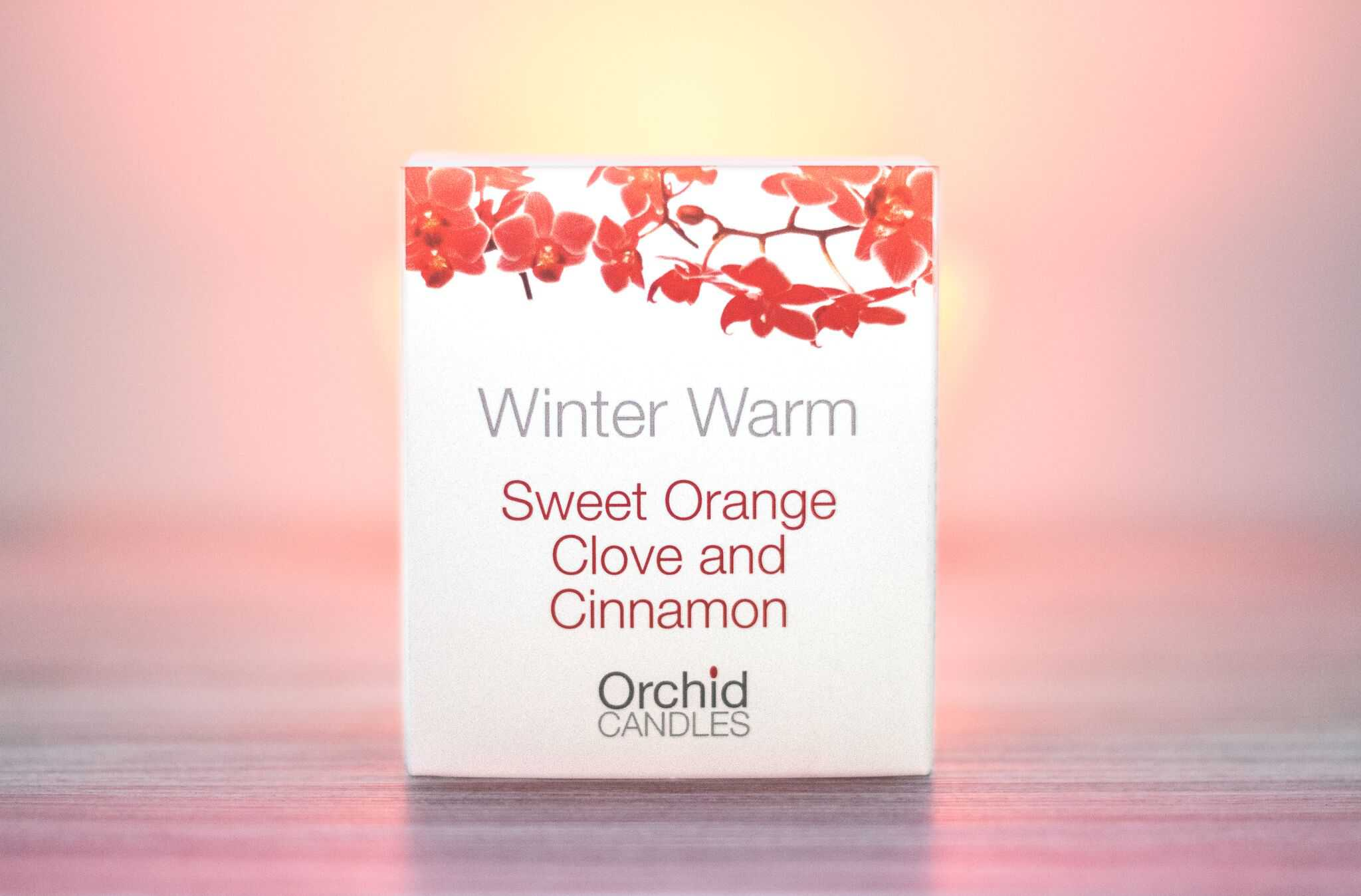 Winter warm candle