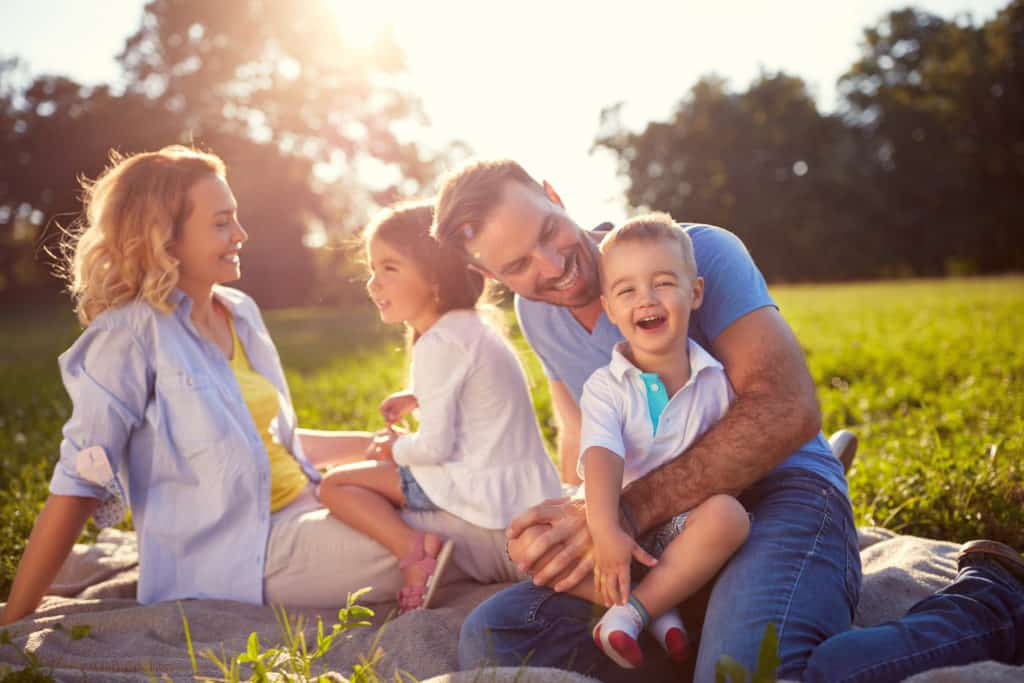 family laughter protection holidays summer