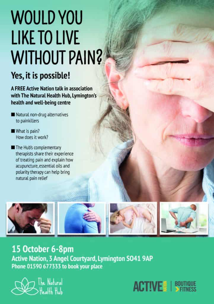 Talk by The Hub's experts on managing pain naturally