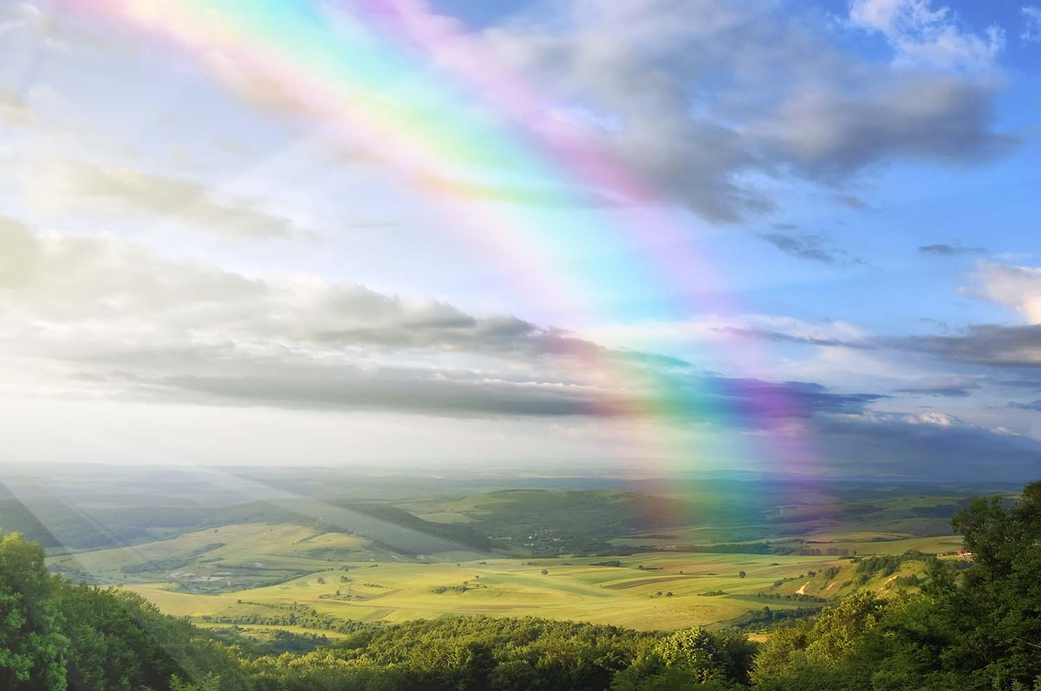 Positivity from seeing a rainbow