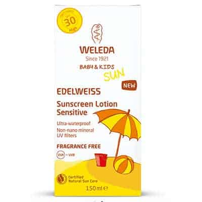 Weleda Edelweiss Sunscreen for Baby and Kids and sensitive skin