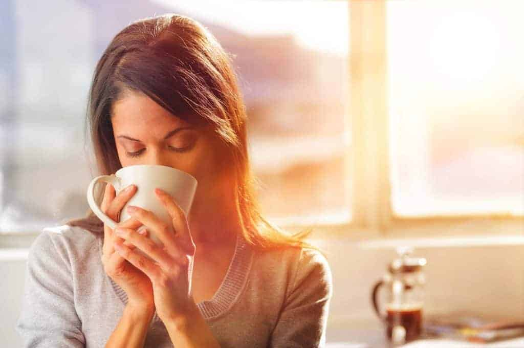 Stay mindful while you drink a cup of tea