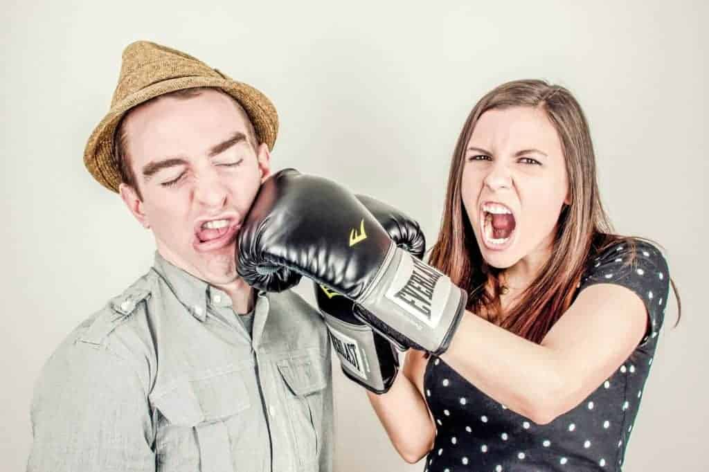 couple fighting rather than handling a conflict well