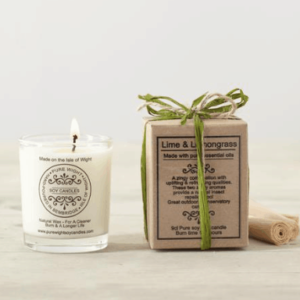 Pure Wight Lime & Lemongrass small boxed candle
