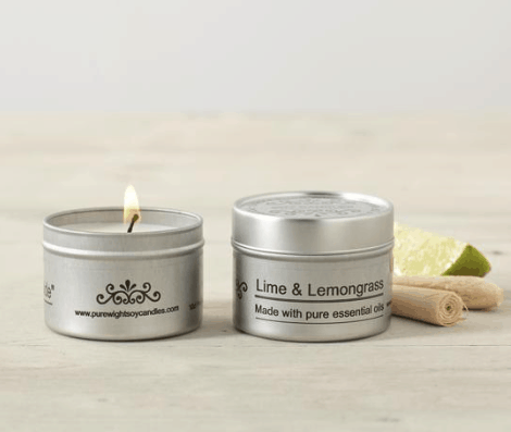 Pure Wight Lime & Lemongrass travel tin
