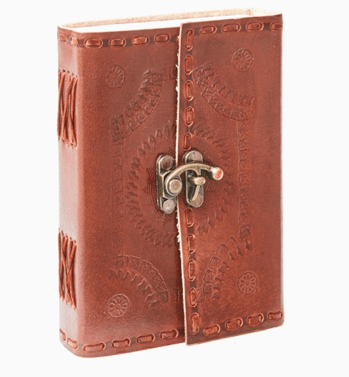 leather-bound notebook