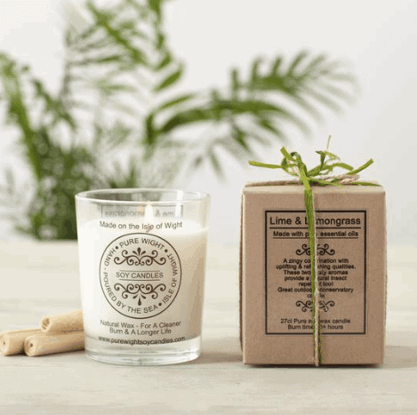 Pure Wight candle Lime & Lemongrass