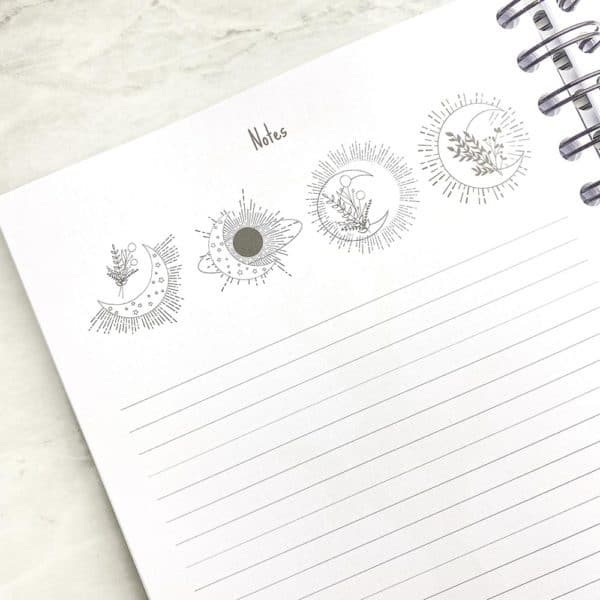 Moon journal notes