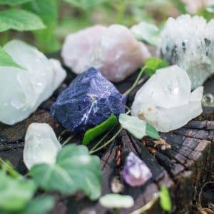 Crystal healing water bottles