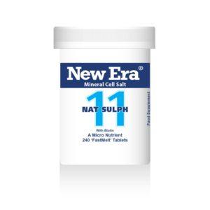 New Era tissue salts No11 Nat Sulph