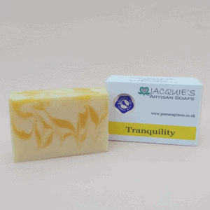 Tranquility soap from Jacquie's Artisan Soaps scented with may chang and bergamot