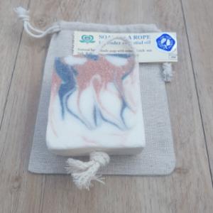 Jacquie's Soaps sea salt and lavender soap-on-roap
