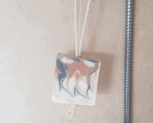Jacquie's Artisan Soaps sea salt and lavender soap-on-rope
